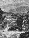 SCOTLAND: The Central Highlands: Bruar Water, print, c1886